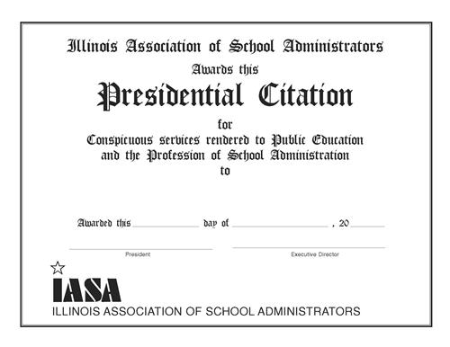 Presidential Citation