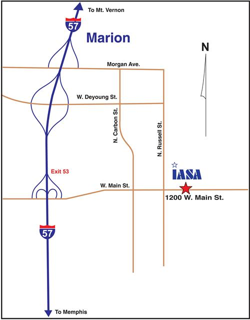 Map to the Marion Office