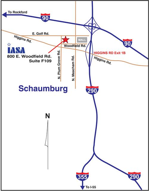 Map to the Schaumburg Office
