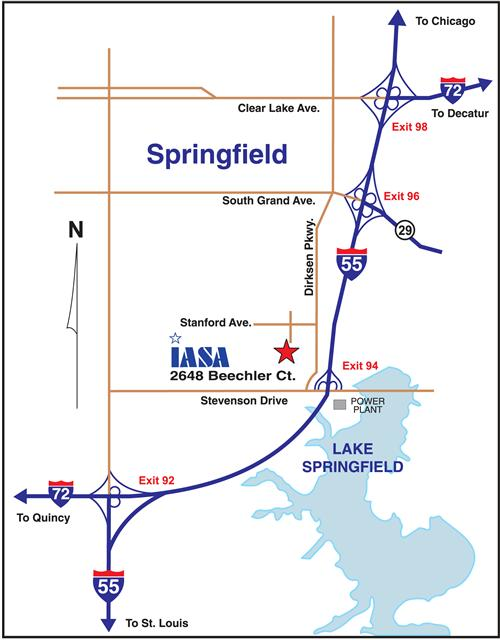 Map to the Springfield Office